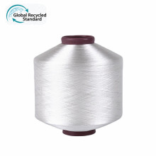 Manufacturer Texturized Weft DTY 75D denier filament polyester recycle pet yarn with grs certificate for woven label