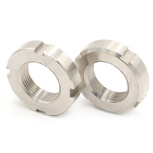 High strength corrosion resistance stainless steel slotted round lock nut