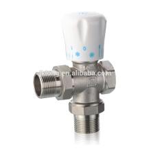 363 Válvula de radiador de ángulo de latón chapada en níquel para HVAC, 16Bar, válvula de termostato, válvula de sensor de temperatura