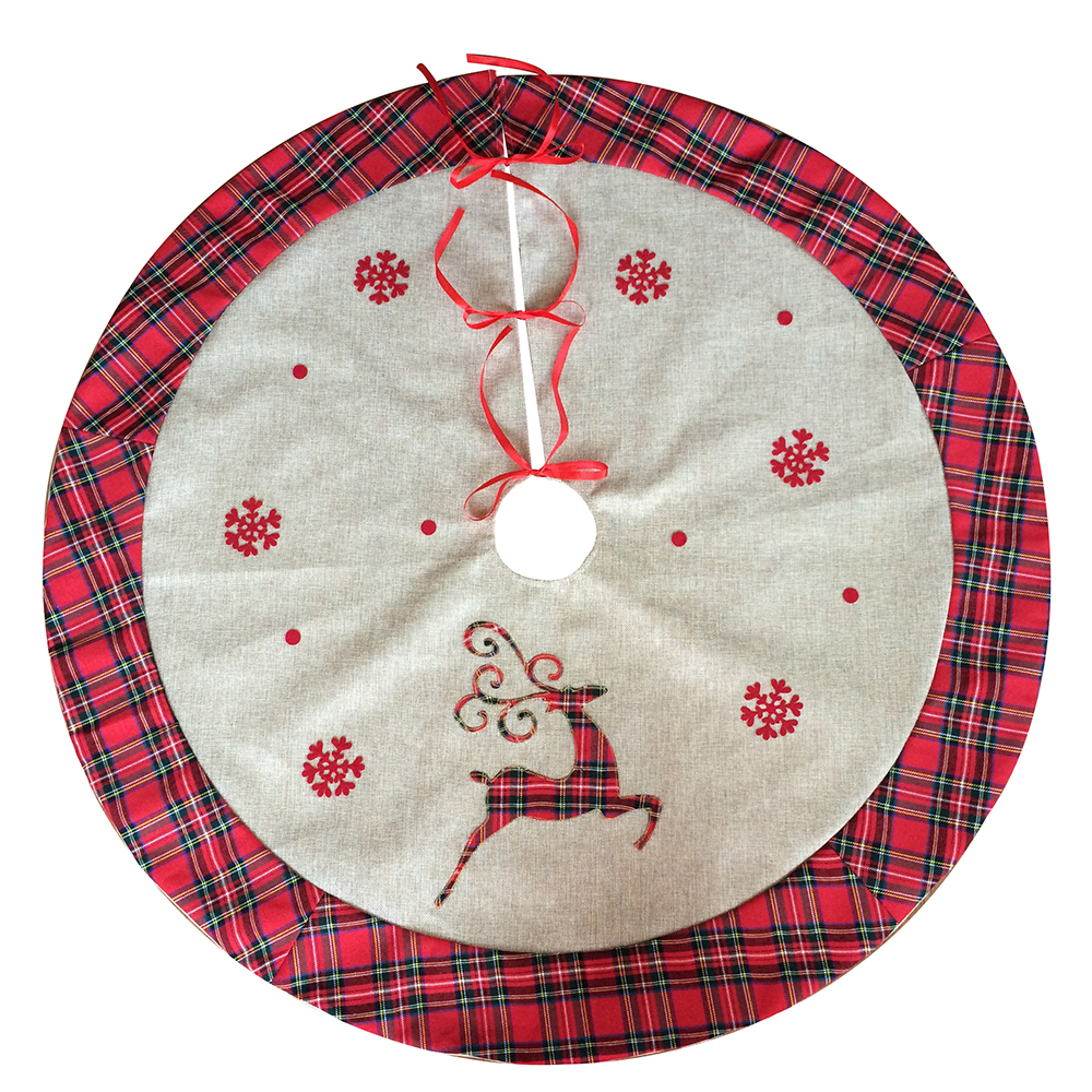 Burlap Reindeer Tree Skirt
