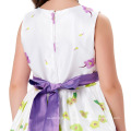 Grace Karin Lavender Flower Pattern Flower Girl Princess Bridesmaid Wedding Pageant Party Dress CL010419-1