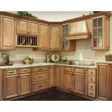 French Style Glazed White Custom Kitchen Cabinetry