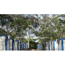 Campamento móvil construido de la casa plana del envase del paquete (shs-fp-camp058)