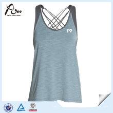 Veste da longarina do Gym das mulheres do Spandex do poliéster para a aptidão