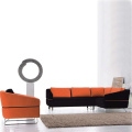 Stainless Steel Legs Chesterfield Fabric Sofa Set