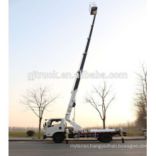 20M straight arm high altitude working platform truck /Telescopic aerial work vehicle/aerial bucket truck/extendable aerial plat