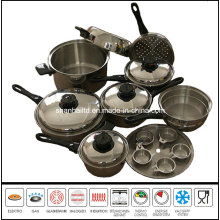 18PCS Kitchenware Stainless Steel Cooking Ware Set