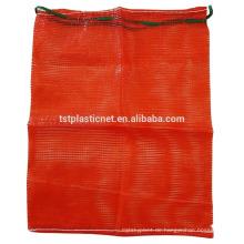 Rote Mesh Produce Taschen, Zwiebelkartoffel Gitter Mesh-Tasche