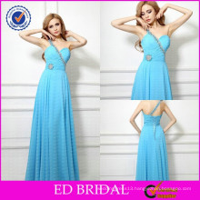 Made to Order OEM Service One-shoulder Pleated Beaded Night Gowns