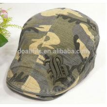 Casquillo de la hiedra del logotipo del bordado de la aduana del gatsby del ejército del camo