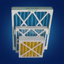 Cardboard frame Deep Pleated filter Disposable Filter