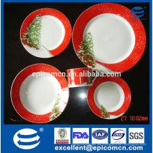 Árbol de Navidad decorado regalo conjunto vajilla de porcelana fina