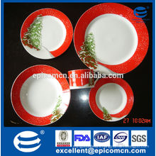 Christmas tree decorated gift set fine porcelain dinnerware