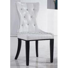 Chaise cuisinière en cuir côtelé blanche XYD006