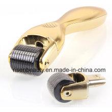 Professional Titanium 600 Agujas Microneedle Meso Derma Skin Roller para el cuidado de la piel