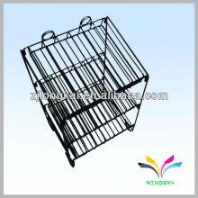 3-stufige zusammenklappbare Draht-Kosmetik-Display-Rack mit Bannerhalter