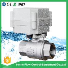 Válvula de controle proporcional elétrica motorizada de 2 vias 4-20mA em aço inoxidável