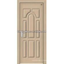 Коммерческие двери деревянные двери с ПВХ листа JKD-1817 для интерьера номер