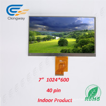 7 Inch 380 CD/M2 16m Color Ratio 16: 9 TFT LCD Display