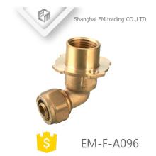 EM-F-A096 90 Grad Winkelschlauch Messing Außengewinde Druckflansch Rohrverschraubung