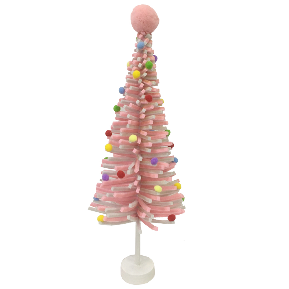 Mini Pink Felt Christmas Tree