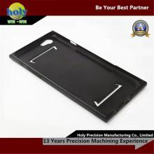 O alumínio preto lustroso do CNC do revestimento parte as peças fazendo à máquina do CNC do costume do caso do iPhone