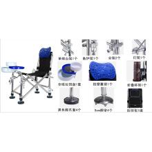 Chaise de pêche multifonction en acier inoxydable
