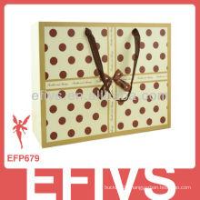 Elegant Yellow Polka Dot gift bag wholesale
