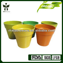 100% natural bamboo flower pots