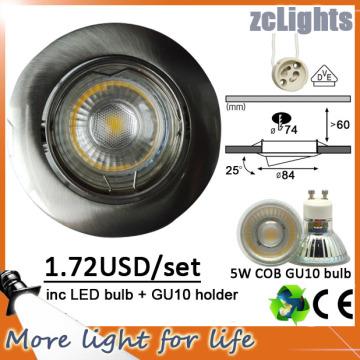 5W techo empotrado LED abajo iluminación ligera de la COB (DL-GU10 5W)