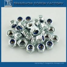 Écrou de verrouillage en nylon plaqué zinc DIN985