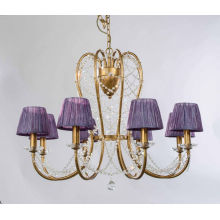 Gold Frame Purple Shade Home Decor Pendant Lighting (SD1149/8)