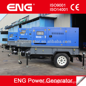 24kw mobile generator silent type with Cummins diesel engine 4BT3.9-G1