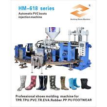 Automatische zwei Farbpvc-Regen-Boots-Schuhe, die Maschine machen