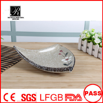 Triangle shaped strengthen porcelain Sauce plate