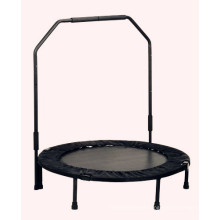Outdoor Mini Foldable Trampoline with Handrail Bar