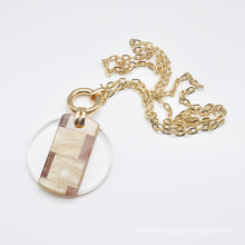 2020 2021 stylish resin acrylic neck jewelry for women trendy gold pendant necklace