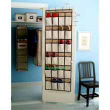 24 Pocket Hanging Over Door Shoe Organiser Storage Tidy Rack Space Saver Toys