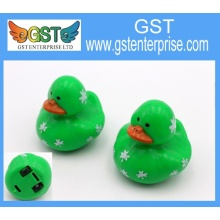 Plastic Pull Back Shamrock Duck Toy