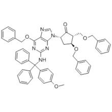 (2R,3S,5S)-3-(Benzyloxy)-5-[2-[[(4-methoxyphenyl)diphenylmethyl]amino]-6-(phenylmethoxy)-9H-purin-9-yl]-2-(benzyloxymethyl)cyclopentanol CAS 142217-79-6