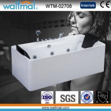 Baignoire de massage rectangulaire avec baignoire hydromassante avec jacuzzi (WTM-02708)
