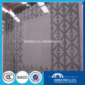 12mm Silkscreen Printing pattern colored Tempered glass en China