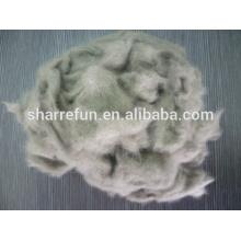 Fibra de lana de visón china depilada y cardada, fibras de lana de visón utilizadas para hilar