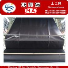 Usine de Geomembrane de HDPE de feuille de plastique HDPE noire