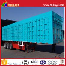 3 eixos 60 toneladas de Van Semi Trailer no reboque do caminhão