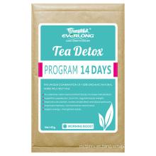 Té herbario de desintoxicación orgánica que adelgaza té de la pérdida de peso del té (aumento de la mañana)