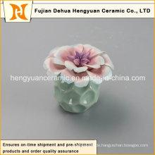 Neue Art leere keramische Parfüm-Flasche mit Blumen-Kappe