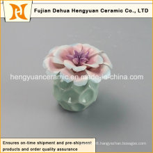 New Style Empty Ceramic Perfume Bottle with Flower Cap