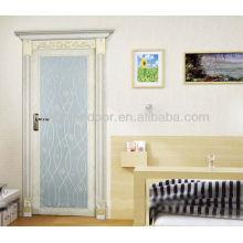 Froested Tempred Puertas de aluminio de vidrio lleno, Exteriores Puertas abatibles