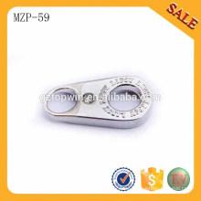 MZP59 diseñador de moda del color de plata diseñó el tirador de la cremallera del metal para los pantalones vaqueros